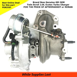 NEW GM OEM Twin Scroll TURBO CHARGER for the 2.0L ECOTEC Engine P/N 12658317