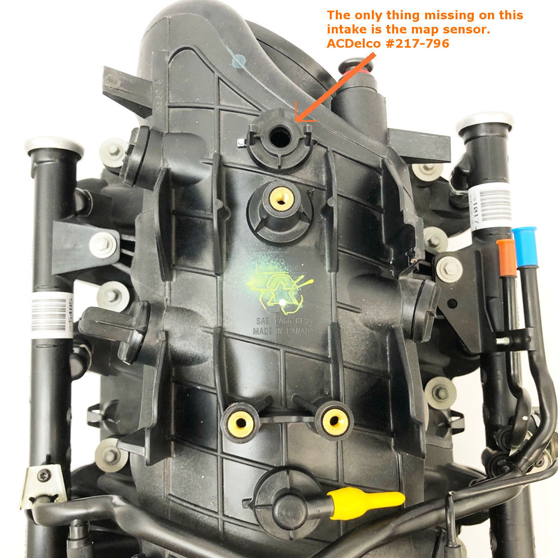 New Delphi / GM OEM Complete Intake (w/EGR) 2001-2002 4.8L ...
