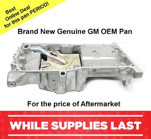 Oil Pan 2.2L, 2.4L Sky Solstice Regal Verano Terrain Pursuit Orlando Captiva Sport #12601240
